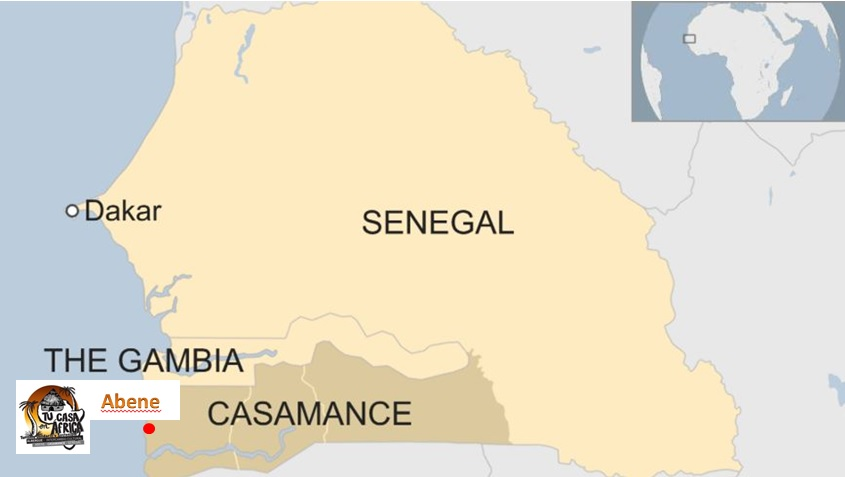 Senegal mapa
